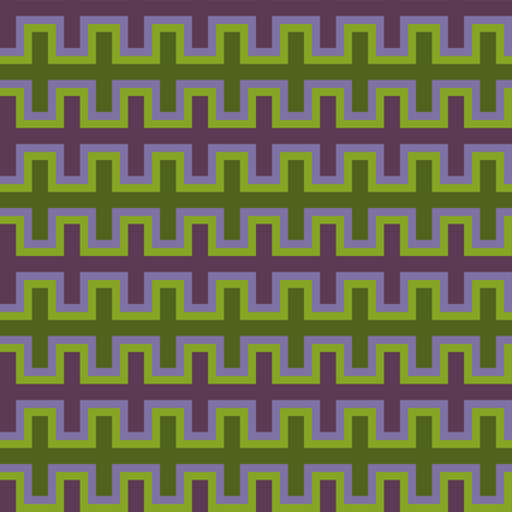 Purple and Green Southwest Blanket Weave fabric by mtothefifthpower on Spoonflower - custom fabric