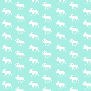 Moose (small scale) // Glacier Woods (misty teal)