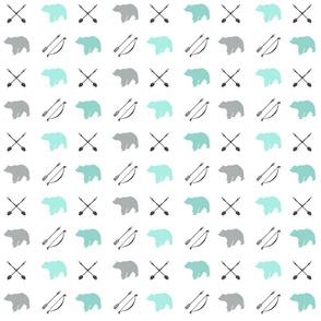 Bear and Arrows // Glacier Woods