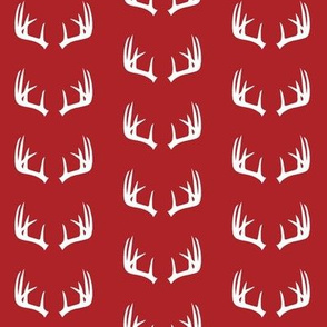Antlers (small scale) // red - woodgrove