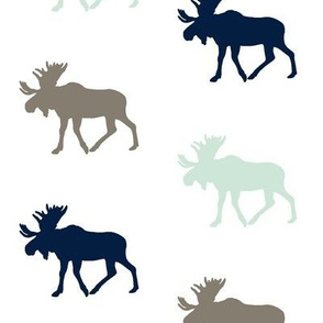 Multi Moose // Navy,Mint,Brown
