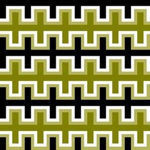Black and Olive Green Southwest Blanket Weave