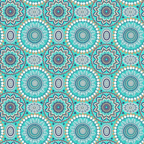 spring mandala fabric magentarosedesigns spoonflower. Black Bedroom Furniture Sets. Home Design Ideas