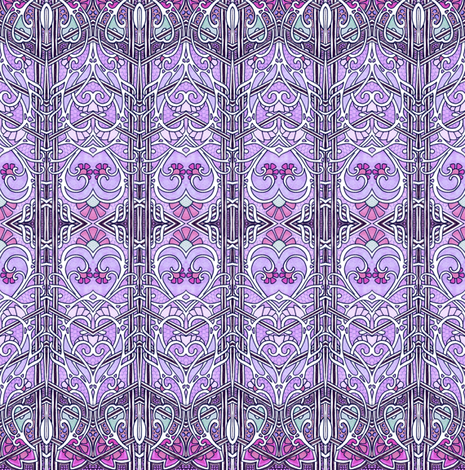 Romance in Lavender Chevrons fabric by edsel2084 on Spoonflower - custom fabric