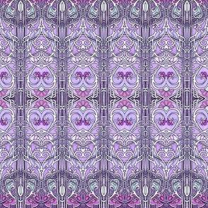 Romance in Lavender Chevrons