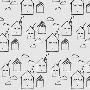 Dozing Homes Gray Texture