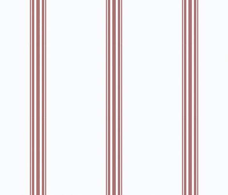 Red ticking french stripe feedsack grain sack fabric cottage stripe  fabric by jenlats on Spoonflower - custom fabric