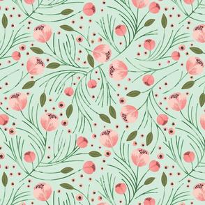 Winter Floral // Mint