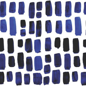 Indigo Watercolor Mosaic