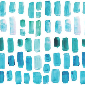 Aquamarine Watercolor Mosaic