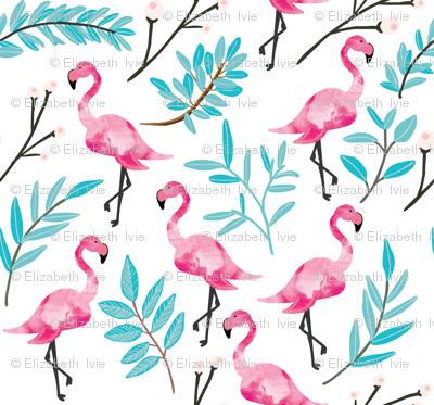 Pink Flamingos in Shade