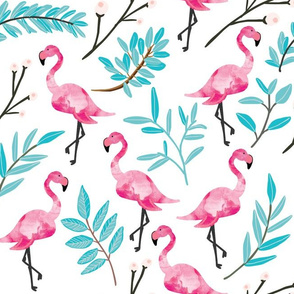 Pink Flamingos in Shade