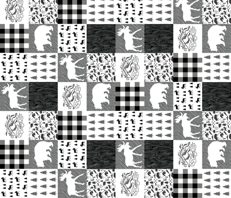 The Pacific Northwest Wholecloth // Vertical fabric by ivieclothco on Spoonflower - custom fabric