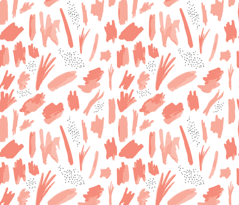 abstract 01 // coral fabric by ivieclothco on Spoonflower - custom fabric