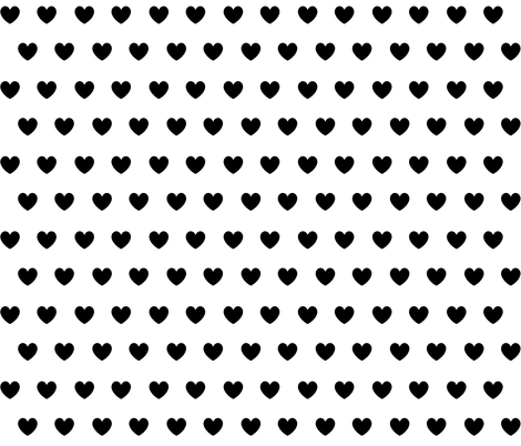 black hearts fabric by ivieclothco on Spoonflower - custom fabric