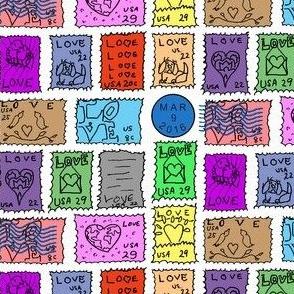Danita's Postage Stamps ~ Spot Color