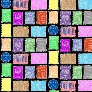 Danita's Postage Stamps ~ Reverse Spot Color