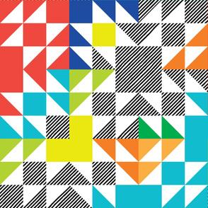 puzzle wholecloth // rainbow bright