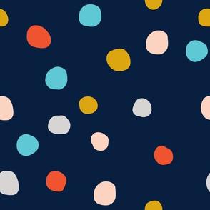 RETIRING 8/1/17 summer confetti // navy