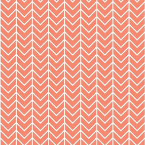 Coral Sprigs and Blooms Coordinate Chevron 3