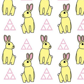 Yellow Bunny with Triangles