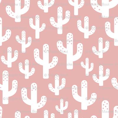 Cactus garden cool trendy summer design for kids in pink for girls XS