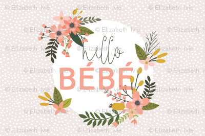 Coral Sprigs and Blooms Bébé Lovey // Scalloping Dots