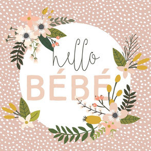 Blush Sprigs and Blooms Bébé Lovey // Scalloping Dots