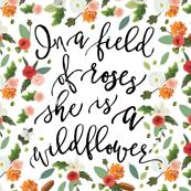 Wildflower Blanket // Petals and Pine