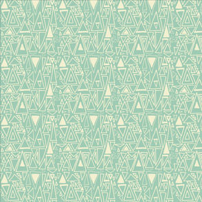 Chaotic Angles Teal by Deirdre J Designs