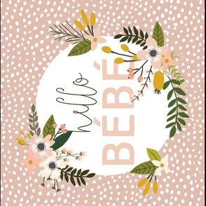 Blush Sprigs and Blooms Bébé Burp Cloths // Scalloping Dots I