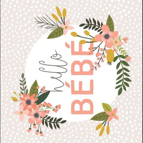 Coral Sprigs and Blooms Bébé Burp Cloths // Scalloping Dots I