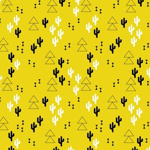 Geometric cactus scandinavian trend triangle design gender neutral yellow XS