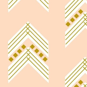Blush Gold Chevron