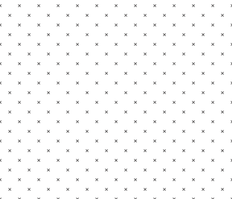x // black and white fabric by ivieclothco on Spoonflower - custom fabric