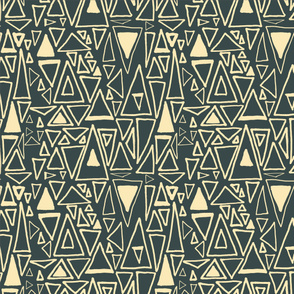 Chaotic Angles Slate by Deirdre J Designs