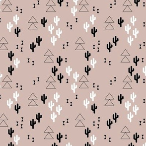 Geometric cactus scandinavian trend triangle design gender neutral beige XS