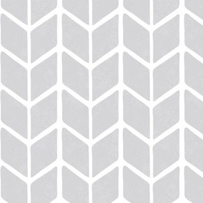 chevron book - soft gray