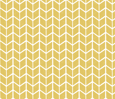 chevron book - cream gold fabric by rarebirddesignco on Spoonflower - custom fabric