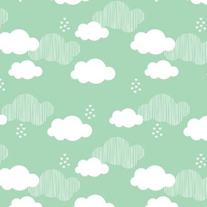Sweet dreams scandinavian clouds for kids mint gender neutral
