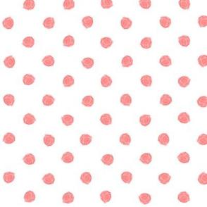 polka dot peach