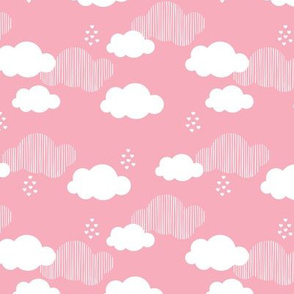 Sweet dreams scandinavian clouds for kids pink girls