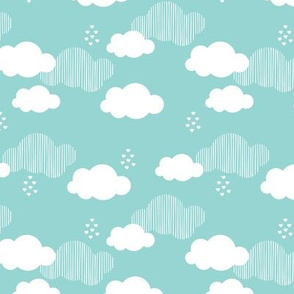 Sweet dreams scandinavian clouds for kids blue gender neutral