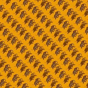 Udaipur Elephants on the Run on Gold