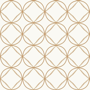 Ogee Beige Tan on Cream Circles Trellis Beige Geometric