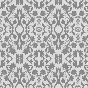 Floral Stamp - Grey