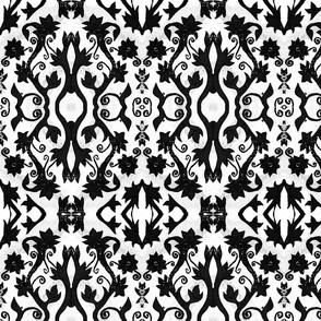 Floral Stamp - Black
