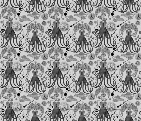 ANTIQUE STEAMPUNK fabric by bluevelvet on Spoonflower - custom fabric