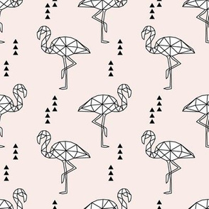 Geometric Flamingo // pale pink