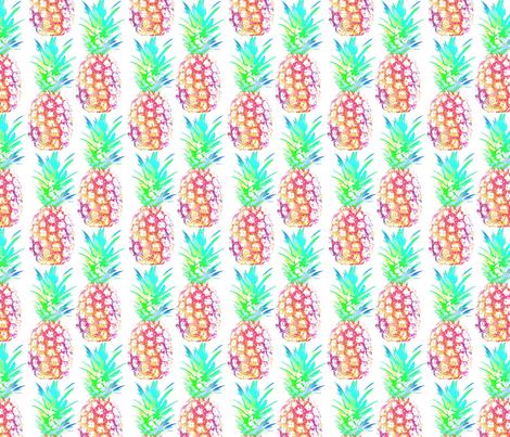 julie_lamb_pinapple_water_colour fabric by julielamb on Spoonflower - custom fabric